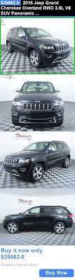 jeep suv 2016 black suvs 2016 jeep grand cherokee overland rwd 3 6l v6 suv panoramic