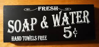 vintage style soap u0026 water hand towels free bathroom wood block