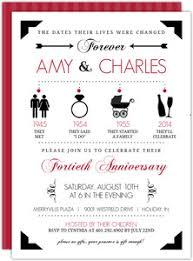 cheap 40th anniversary invitations invite shop