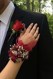 Red Rose Wrist Corsage Corsage W Red Roses Prom Pinterest Red Roses Prom And Prom