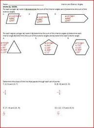 Finding Interior Angles Of A Polygon Worksheet Best 25 Exterior Angle Of Polygon Ideas On Pinterest Angles Of