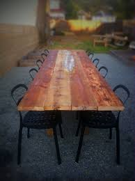 Wooden Outdoor Table Diy by Diy Old Barn Wood Outdoor Table Gorgeous Lake Stuff