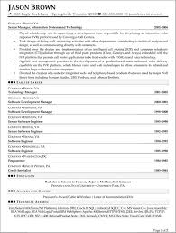 project manager resume information technology 28 images