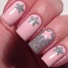 lavender nail art design ring finger nails white nail art and