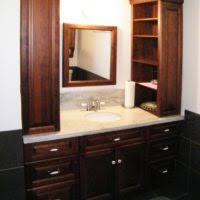 bathroom decoration with double mahogany bathroom vanity furniture
