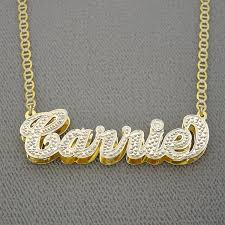 gold name necklace personalized gold plate name pendant necklace jewelry nd05