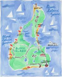 Block Island Map Newburyport Ma Limited Edition Print U2013 Mack U0026 Ro