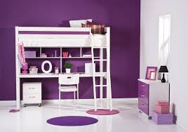 Purple Themed Bedroom - redoubtable high beds and sleepers inspirations ideas bedroom