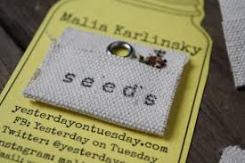 seed cards flower jar business cards yesterday on tuesday