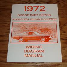 1972 dodge dart plymouth valiant duster wiring diagram manual