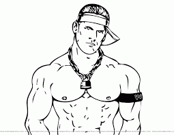 wwe wrestler coloring pages coloring home