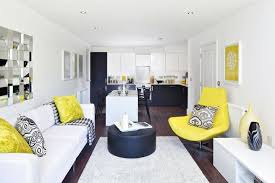 white interior homes contemporary home design with a dash of yellow idesignarch