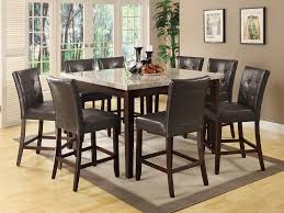 Marble Top Dining Room Table by Coaster Fine Furniture 103778 103779 Milton Counter Height Table