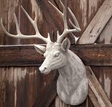 deer head huge estate stone deer head mount antique farmhouse