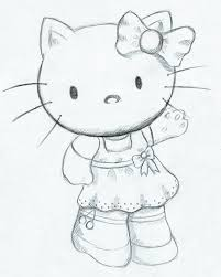 hello kitty drawing sketch pictures to pin on pinterest pinsdaddy