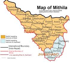 India State Map by File Mithila Map Jpg Wikimedia Commons