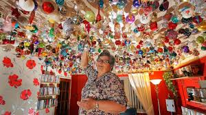 grandmother hangs 2 530 ornaments on ceiling abc news