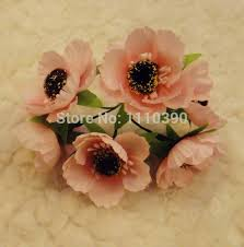 Peach Roses 3cm Silk Flowers Bouquets Artificial Peach Roses Blossom Peach