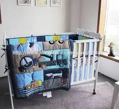 Baby Boy Monkey Crib Bedding Sets Formidable Ups Free New Baby Pcs Set Car Boy Baby Cot Crib