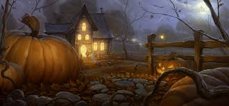 scary house halloween lights
