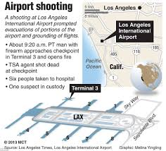 Los Angeles Airports Map by Lax Terminal Evacuated Following Shots Fired At Airport Daily
