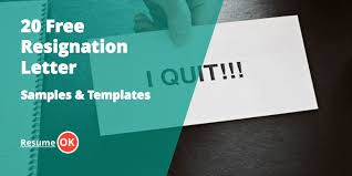free resignation letter samples and templates