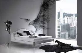 modern black and white bedroom with gothic decor gothic home