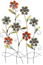 Metal Flower Wall Decor - wall art flower metal wall art decor floral metal wall decor