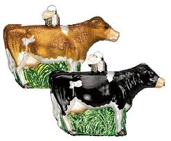 world ornaments assorted dairy cow 12229