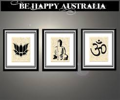 Print On Aprons Buddha Namaste Set Of 3 Prints On Stretched Canvas Each Print