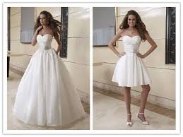 2 wedding dress two in one bridal gown detachable lace skirt wedding dress