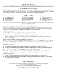 Security Job Resume Objective Hr Resume Objective 17 Hr Resume Sample Examples Monster Samples