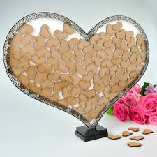 heart guest book wooden heart guest book personalised favours