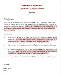 director resignation letter templates 7 free pdf word format