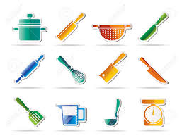 Kitchen Utensils Names by Cooking Equipment And Tools Icons Icon Set Royalty Free Cliparts
