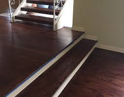 custom stair treads refinished on site cooper floors