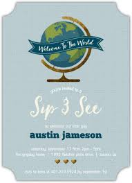 welcome to the world baby shower welcome to the world sip see baby shower invitation boy baby