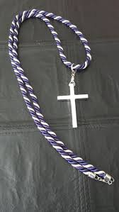 clergy cords purple silver cord with cross clergy cords