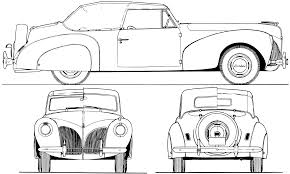 vintage cars drawings the blueprints com blueprints u003e cars u003e lincoln u003e lincoln zephyr