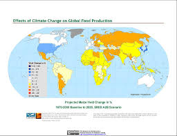 Global Map Of The World by Maps Effects Of Climate Change On Global Food Production From