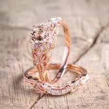 wedding sets on sale limited time sale 1 50 carat cut morganite and diamond halo
