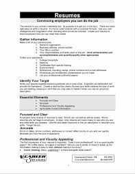 Resume Sample Job Objective by Resumes For A Job Resume Free Example And Writing Download Job