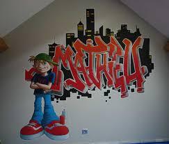 tag chambre fresque graffiti chambre enfant sylvano arts graphiques