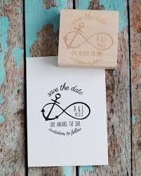 Quot Love Anchors The Soul - custom save the date wedding rubber st infinity anchor with