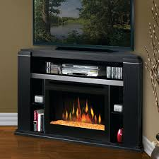 tv stand dimplex cloverdale black corner electric fireplace