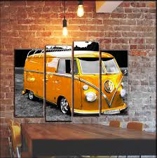 volkswagen bus art multi panel volkswagen vw wall art bus van camper wall canvas