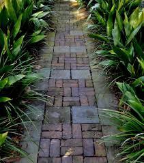 garden pavement ideas landscape tropical with brick paving walkway