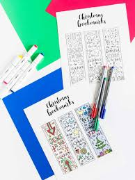 coloring christmas bookmarks free printable daydream into reality