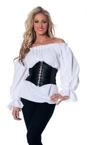 plus size pirate blouse plus size s sleeve white renaissance peasant blouse