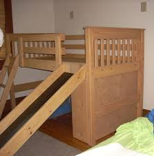 solid wood twin over twin mid height bunk bed with slide kids